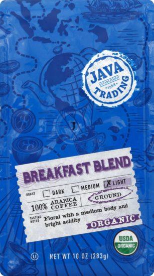 Organic Breakfast Blend Bag front