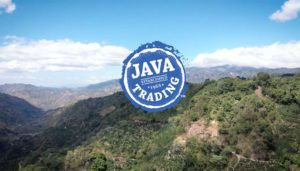 Costa Rica landscape with Java Trading logo overlay