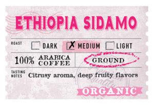 Organic Ethiopia Sidamo Label