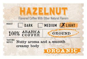 Organic Hazelnut Label