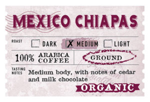 Organic Mexico Chiapas Label