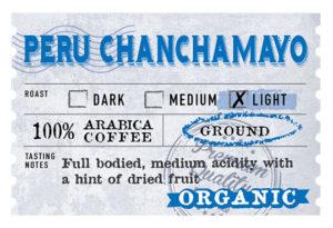 Organic Peru Chanchamayo Label