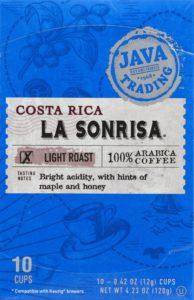 Costa Rica La Sonrisa 10 count box front