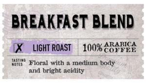Breakfast Blend Label