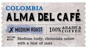 Colombia Alma Del Café Label
