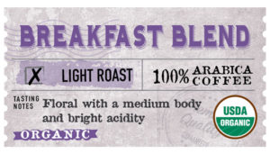 Organic Breakfast Blend Label