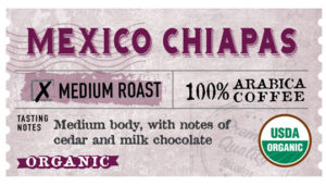 Mexico Chiapas Label