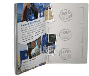 Open booklet and open booklet showing frequent flyer program page