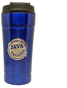 Java Trading Blue Tumbler with Java Trading logo