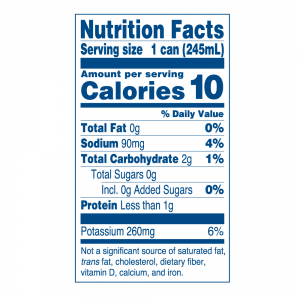 Nutritional Info for Java Trading Peak High caffeine coffee unsweetened. Serving size: 1 can, calories: 10, total fat: 0g, Sodium: 90 mg., Total Carbohydrate 2 g., Total Sugars: 0 g. included 0 g. of added sugar; Protein: less than 1 g. Potassium 260 mg. Not a significant source of saturated fat, trans fat, cholesterol, dietary fiber, vitamin D, calcium and iron.